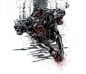 Cerberus the 3-headed guard dog