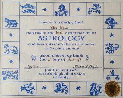 Rob's Astrology Diploma
